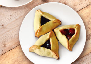 Hamentashen on Plate